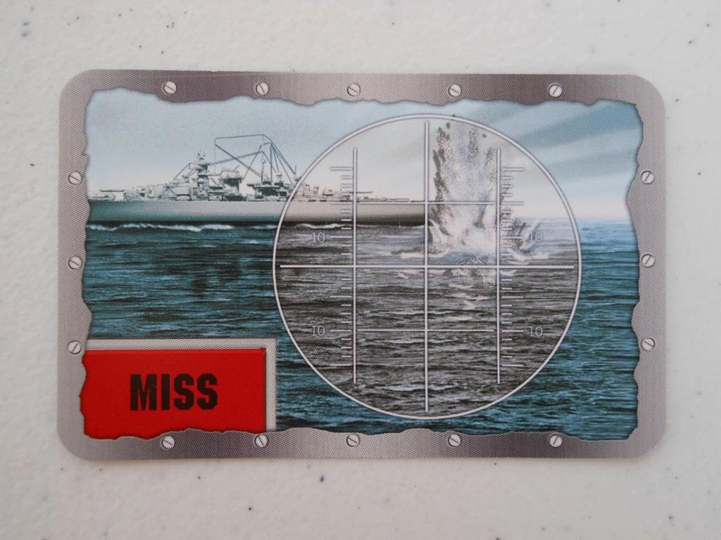 Battleship miss card