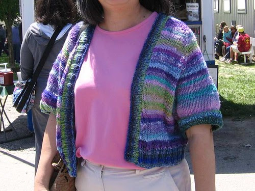 Open Summer Cardigan modeled