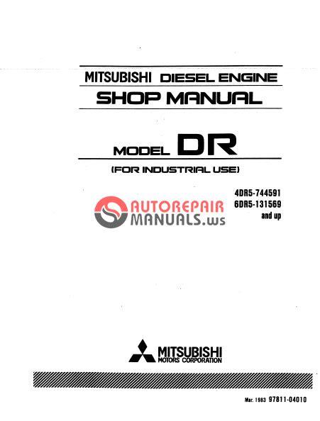 MITSUBISHI DIESEL ENGINE MODEL DR (4DR5 - 6DR5) SHOP