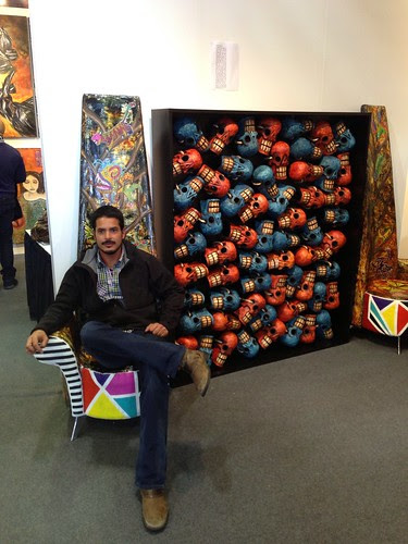 The son of a Mexican artist (amazing work!) @ ArtExpo New York 2013