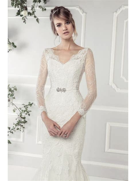 Ellis Bridals 11412A Fish Tail Lace Wedding Dress with