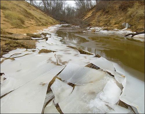 Ice Along Kintzele Ditch