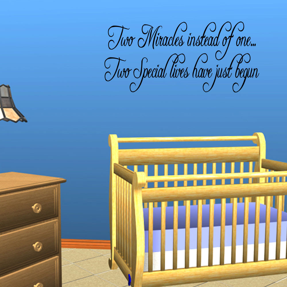Twins Baby Room Wall Quote Decal Nursery Decor Kids Home Decor Lettering Sticker  eBay