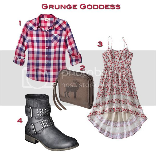 grunge luxe trend fall 2013, Target Style grunge outfit, Mossismo plaid shirt