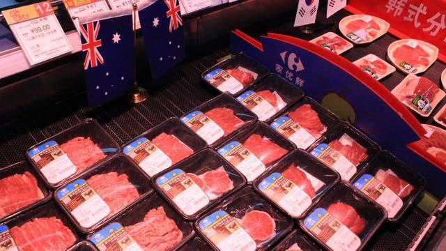 Carne australiana en China