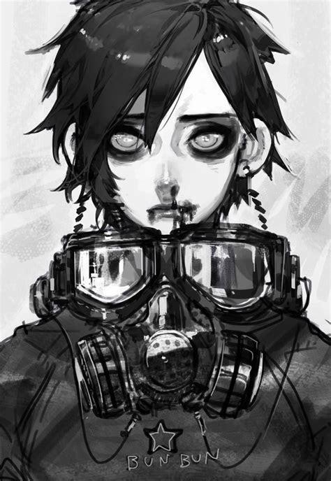 gas mask digital art anime google search alternative