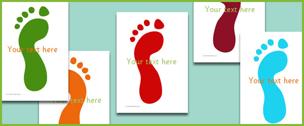 Footprints - Editable Text   Free Early Years & Primary Teaching ...
