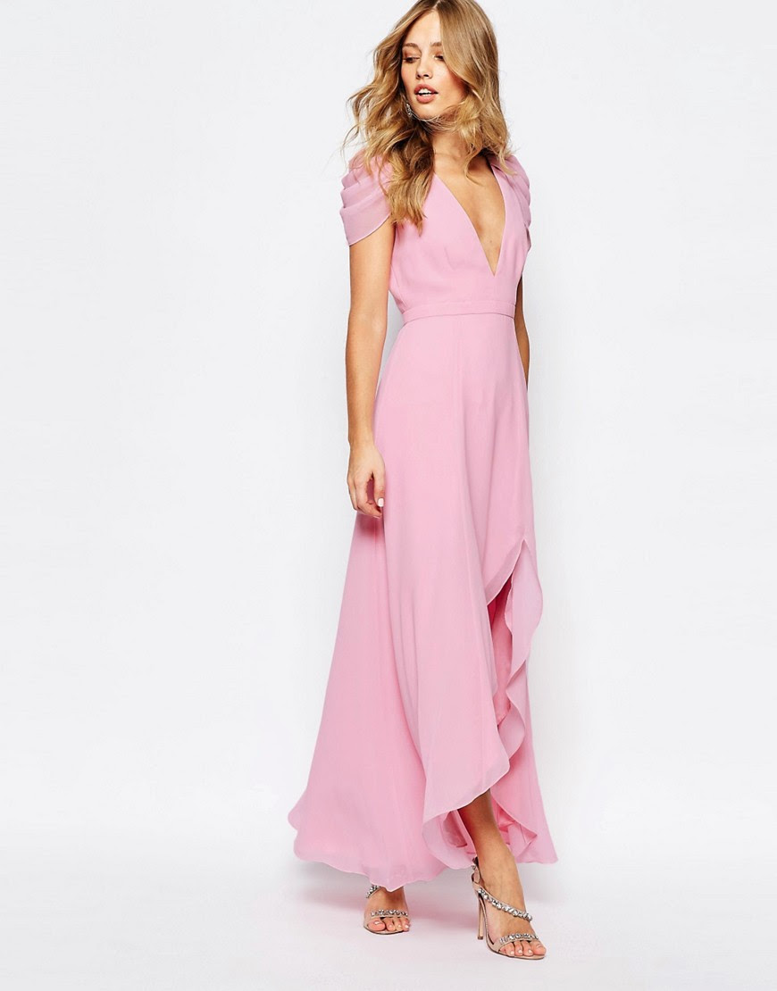Image 4 of Fame and Partners Radiant Angel High Low Maxi Dress