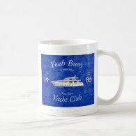 Yacht Club Yeah Buoy Basic White Mug