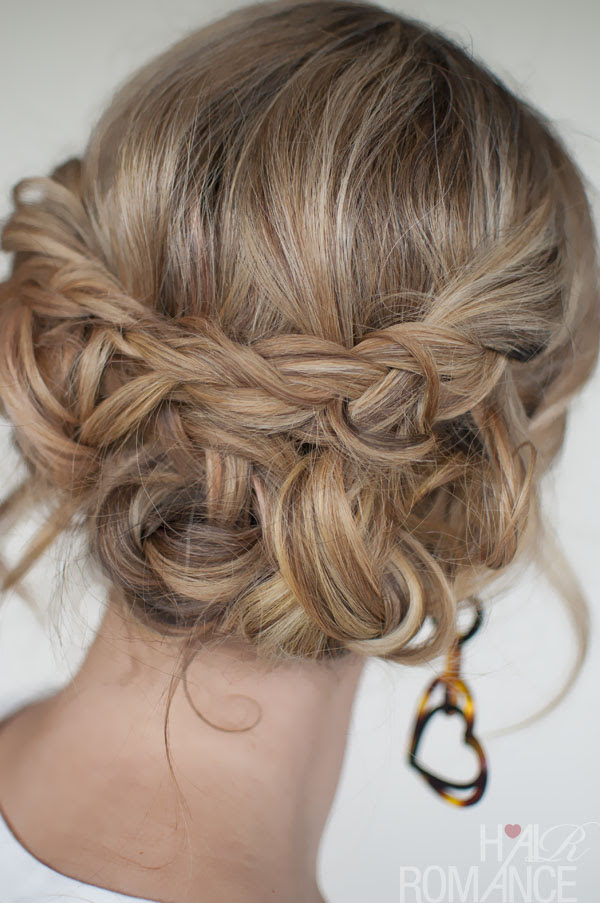 Casual Messy Braided  Updo  Quick Easy Messy Braided