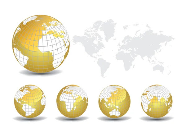 world map vector free download. World map with Earth globes in