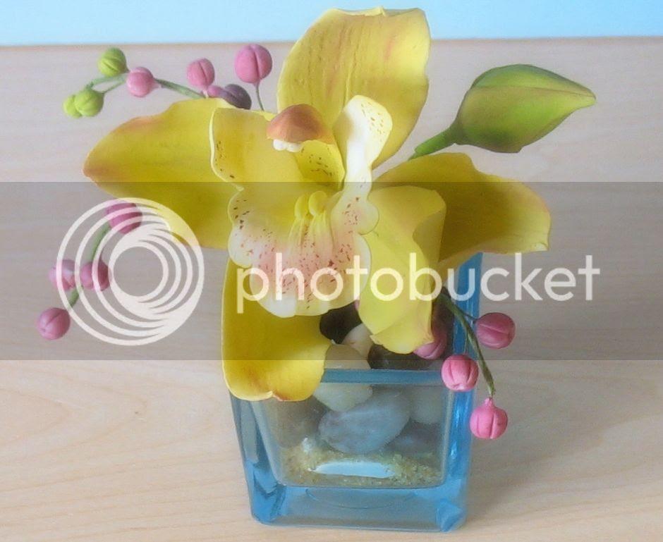 Cymbidium Orchid and Berries