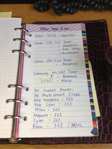 Comparison between my personal and pocket Filofax!