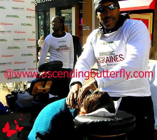 DRExcedrin Event Herald Square me 07 During Oasis Day Spa Massage WATERMARKED