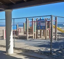 Fenced off after being declared unsafe, the playground at ...