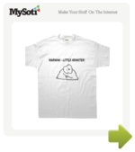 Warning - Little Monster tee by MadHippo. Available from MySoti.com.