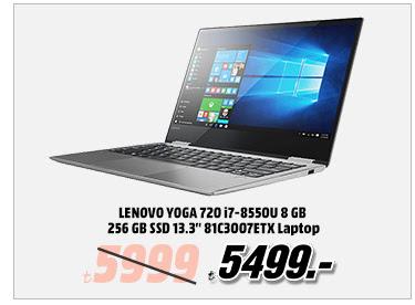 """LENOVO YOGA 720 i7-8550U 8 GB 256 GB SSD 13.3"""" 81C3007ETX Laptop 5499TL"""