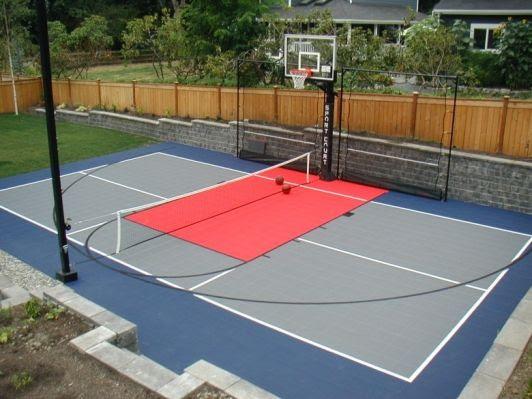backyard basketball court ideas 9