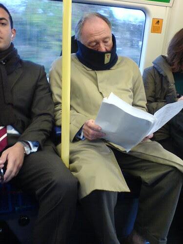 Ken Livingstone on the tube taken by Sergio Montini