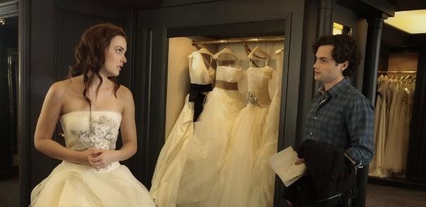 """Penn Badgley e Leighton Meester em cena de """"Gossip Girl"""""""