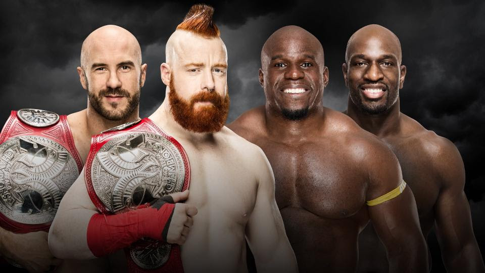 Resultado de imagem para The Bar (c) (w) vs. Apollo Crews & Titus O'Neil
