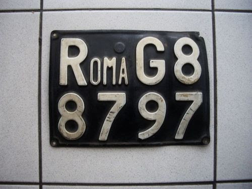 Buy Org 60s License Plate Romarome Italy Fiat Alfa
