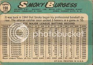 #198 Smoky Burgess (back)