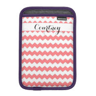 Watermelon Chevron Personalized Ipad Mini iPad Mini Sleeve