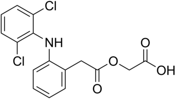 chemical structure of aceclofenac