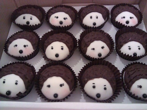 Hedgehog cupcakes for Rob birthday
