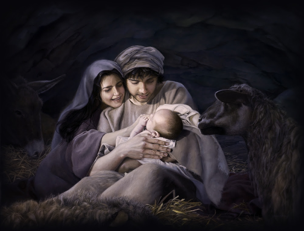 Image result for joseph and mary give birth to jesus