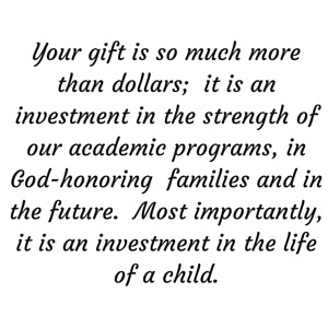 Quakertown Christian School Build Your Legacy Invest In A Child