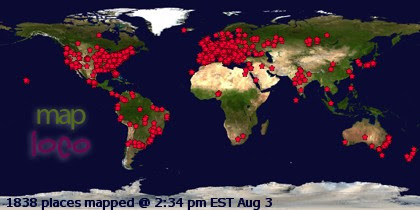 Profile Visitor Map - Click to view visits