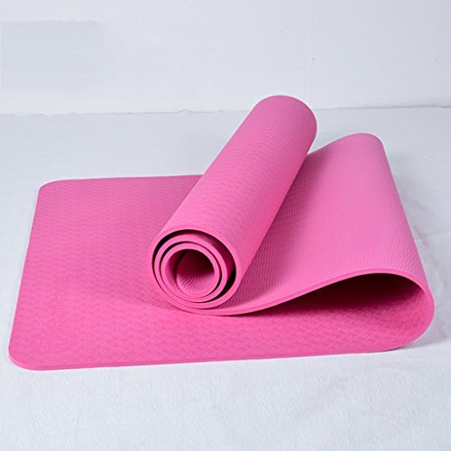 [GYD] Widening 66cm Thick Tasteless Tpe Yoga Mat Fitness Mat Genuine Slip Increasingly Mat Men And Women Beginners ( Color : Pink )