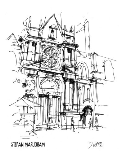 Dieppe church by Stefan Marjoram