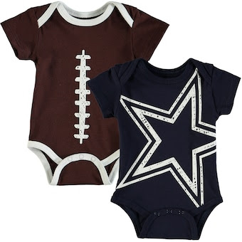 Dallas Cowboys Newborn & Infant Meeks 2-Pack Bodysuit Set - Navy/Brown