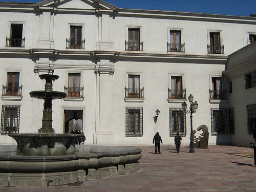 Courtyard of La Moneda Presidenial Palace 2