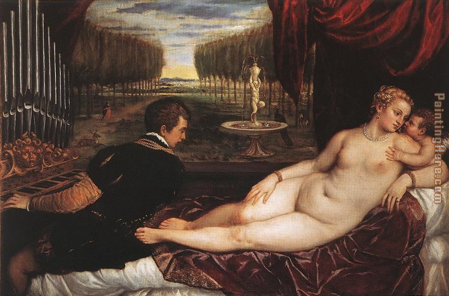 Ticiano,Vénus e organista,