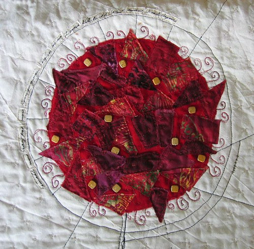 "Quilt ""vinter - rose"" ~ ""Winter - Rose"" : Rosen"
