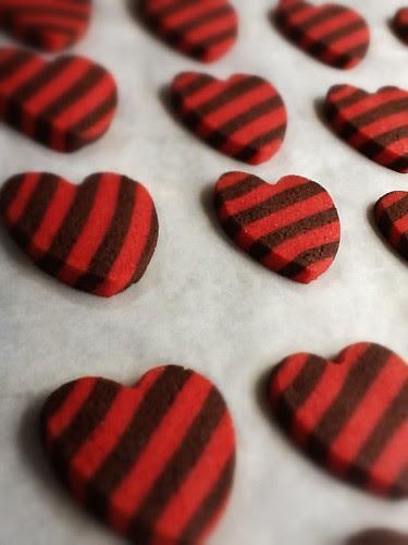 Galletas Corazón Rayado