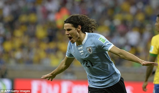 Response: Edinson Cavani equalised for Uruguay early in the second half