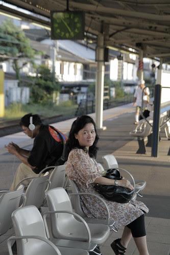 Mum before leaving Kamakura
