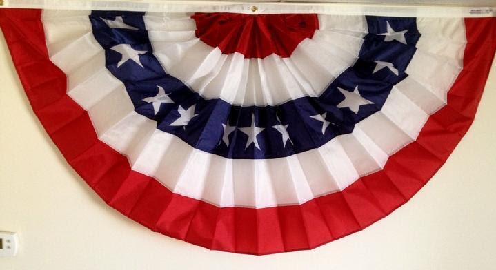 PATRIOTIC DECORATION SALES BY BALD EAGLE FLAG STORE FREDERICKSBURG VIRGINIA USA