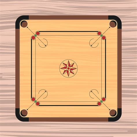 carrom board illustration   vector art