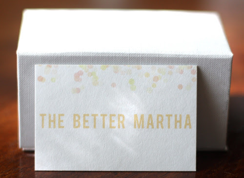 The Better Martha Confetti Card