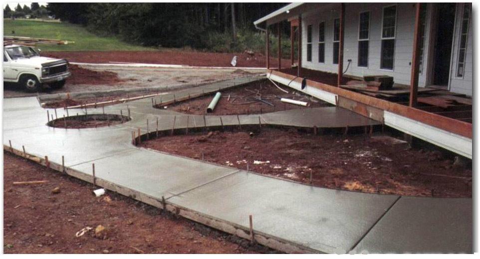 Как залить двор цементом