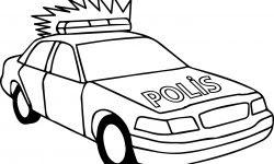 Basit Polis Arabası Boyama Sayfası