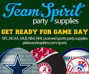 Licensed Sports Party Supplies at Team Spirit Party Supplies