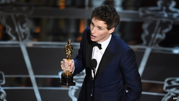 Eddie Redmayne wins best actor Oscar
