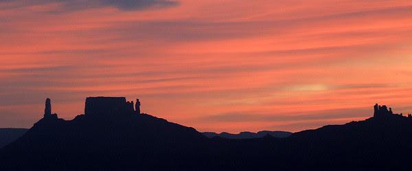 Castleton Tower, Priest & Nuns, Convent; Castle Valley, Utah